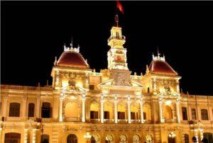 Đèn led chiếu sáng kiến trúc tòa nhà
