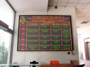 Bảng điện tử trong nhà – tòa nhà Sông Đà