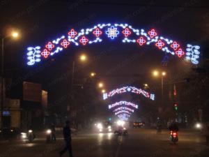 Dải hoa led trang trí ngang đường tại Thành phố Nam Định