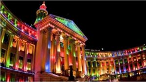 Đèn led chiếu sáng kiến trúc tòa nhà tại Denver, Tiểu bang Cororado, Hoa Kỳ
