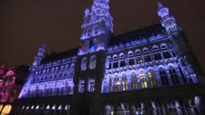 Đèn led chiếu sáng kiến trúc tòa nhà tại tòa thi chính Brussels – Belgium