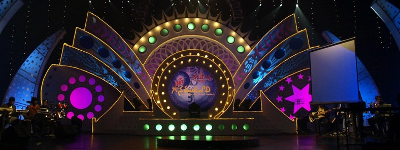 Màn hình led sân khấu trong nhà