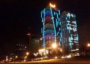 Đèn led chiếu sáng kiến trúc công trình 1