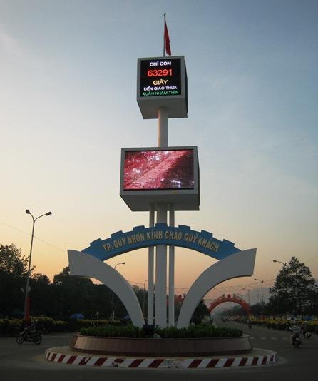 Màn hình led sân khấu ngoài trời tại Bình Định