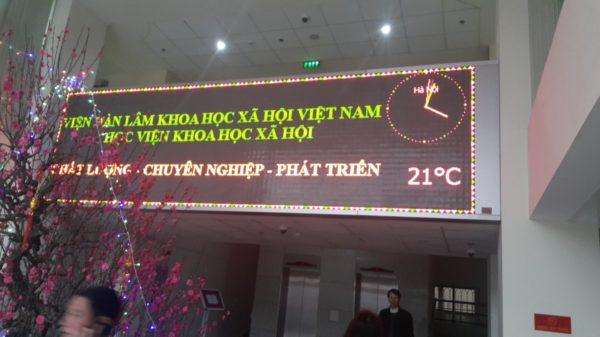 Bảng điện tử tại Viện Hàn Lâm khoa học xã hội Việt Nam – Học viện khoa học xã hội