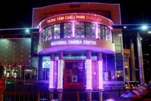 Đèn led chiếu sáng kiến trúc tòa nhà Rạp chiếu phim Quốc gia, Hà Nội