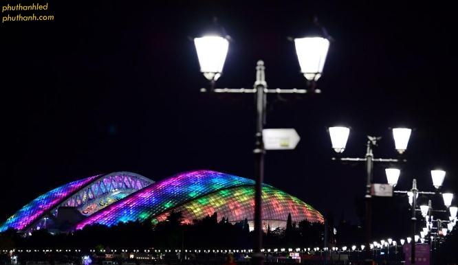 Đèn led chiếu sáng đường phố  và đèn led chiếu sáng kiến trúc sân vận động Fisht