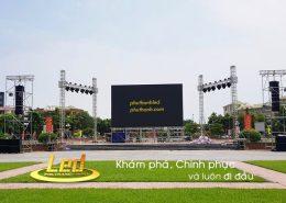 Màn hình led sân khấu ngoài trời trong ngày hội bóng đá tỉnh Nghệ An