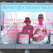 Màn hình led sân khấu ngoài trời sử dụng tại Bệnh viện Thanh Nhàn